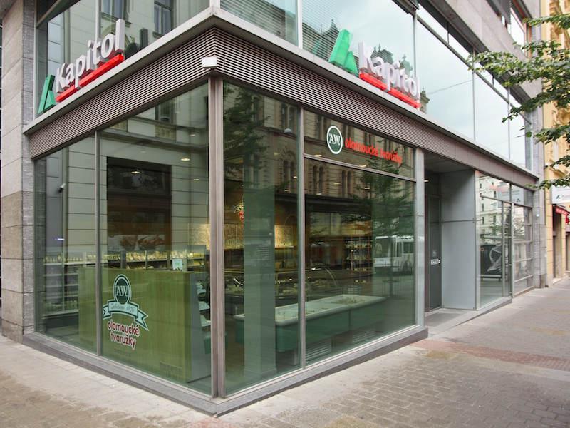 Магазин по продаже Oломоуцких сырков Brno