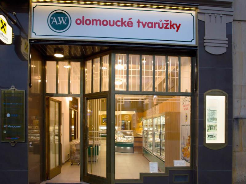Sklep firmowy Twarożków Ołomunieckich Olomouc