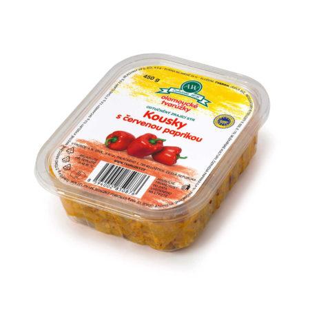 Olomoucké tvarůžky Kousky sčervenou paprikou 450g